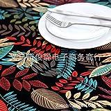 XGguo Cubierta de Mesa de Simples Adecuado para la decoración de cocinas caseras, Varios tamaños Hoja de Arce de Hoja Negra de algodón de país Americano