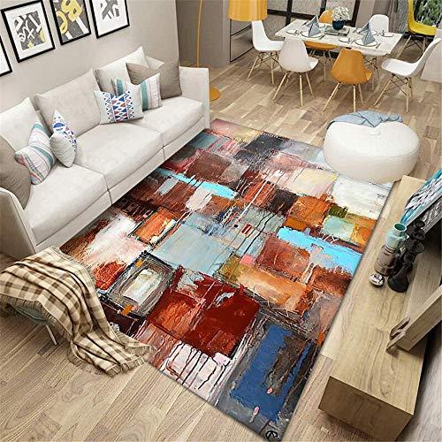 Teppich terrasse Wohnzimmer-Teppich-Tiefstapel-abstraktes Rechteck ist gegen Abrieb und Wird Nicht verblassen Teppich terrasse Teppich flach 160x230cm 5ft 3' X7ft 6.6'