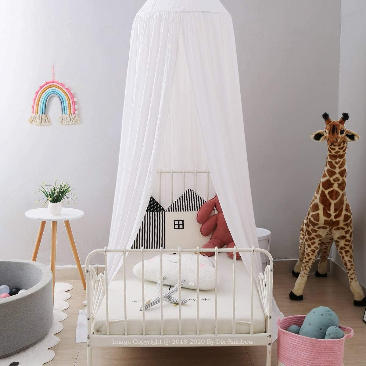 新色追加して再販 Dix-Rainbow Princess Bed Canopy Net for 超定番 P Girls Child Kids Baby
