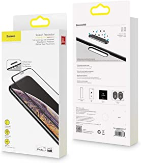 Baseus full-screen curved tempered glass screen protector (cellular dust prevention) For iP XR 6.1inch Black