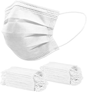 Optitect Disposable Face Mask, Effective Filtration, Soft on Skin,Pack 50 Pieces of 3-Ply Masks Facial Cover with Elastic ...