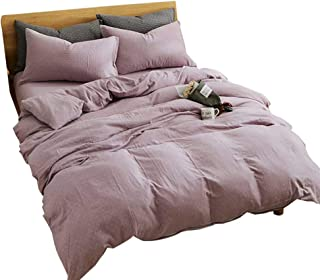 rose gold and purple bedroom
