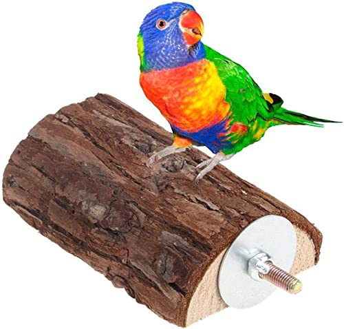 KSK Parrot Wooden Chew Toys Perch Stand