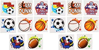 Assorted Sports Tattoos Package of 144