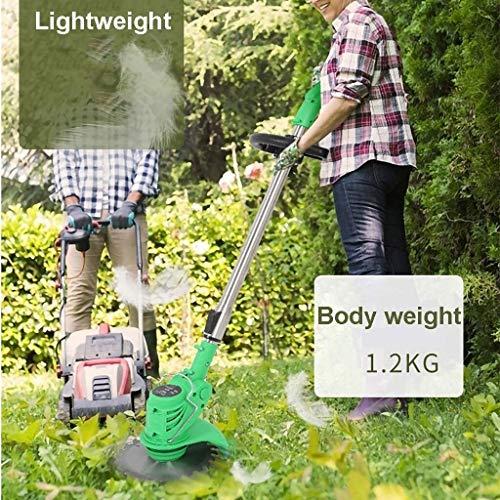 Great Price! JNWEIYU Trimmer/Edger/Mini Mower Household Cordless Pruner Lawn Mower Telescopic Lightw...