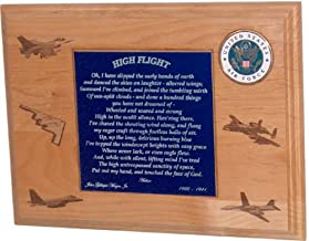 product image for All American Gifts High Flight Poem Plaque with U.S. Air Force Emblem (USAF) - Includes 2 Lines Personalized Text