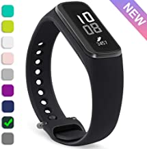 HQzon [Updated Version] Samsung Galaxy Fit E Sports Band, Made of Soft Comfortable Silicone, 360°Protection, Replacement Accessories Strap Wristbands for Samsung Galaxy Fit E (Black)