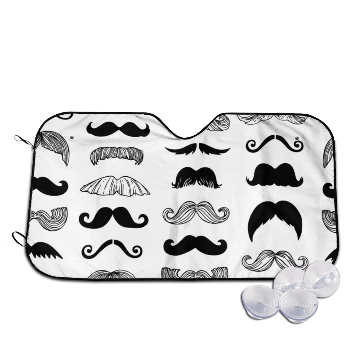 Moustaches Brand new Windshields Sun Shade Long 3D Lasting Printed Manufacturer OFFicial shop