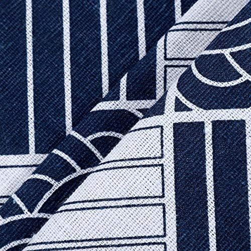 Qqmora Paño Multiusos a Prueba de Polvo del refrigerador del patrón de Onda de la Tela Escocesa Azul y Blanca usable para el hogar para el refrigerador(55 * 130 cm 51x21 Pulgadas)