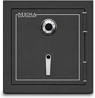 Mesa Safe MBF2020C All Steel Burglary and Fire Safe with Combination Lock, 3.3-Cubic Feet, Hammered Grey
