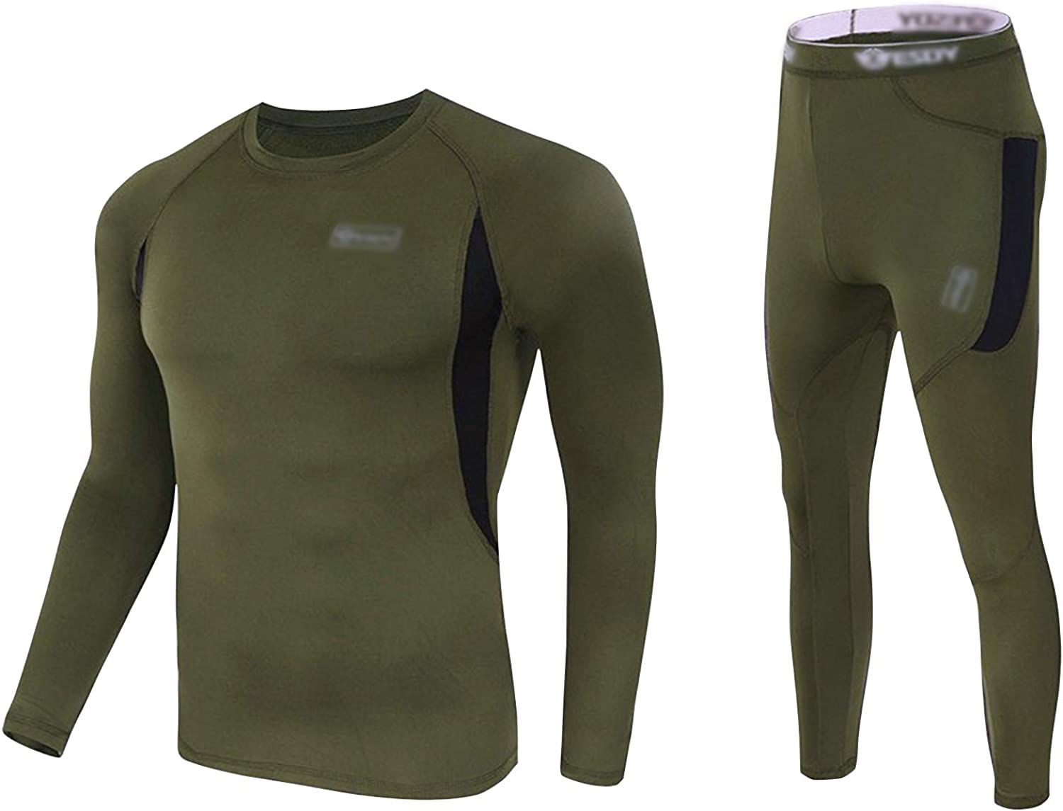 Thermal Underwear Set Winter Hunting Gear Sport Long Johns Base Layer Bottom Top Midweight