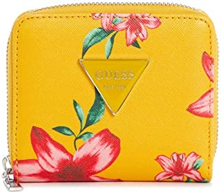 Women's Abree Floral Print Triangle Logo Small Zip-Around Wallet