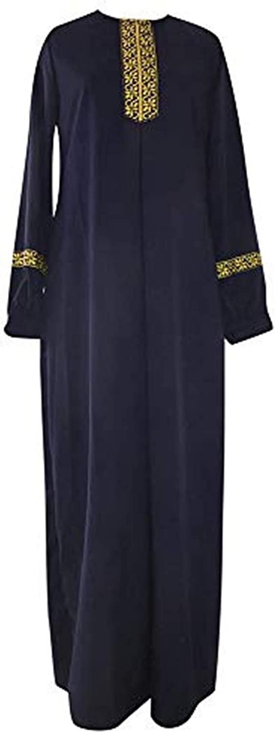 New popularity Lazapa Women Muslim Ramadan Maxi Dresses Long Inventory cleanup selling sale Sleeve Casual