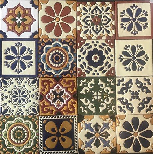Ceramic Relief Talavera Mexican Tile 6X6