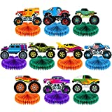 Set of 10 Monster Truck Honeycomb Centerpieces Monster Truck Party Table Decorations Truck Themed Birthday Party Supplies Kids Birthday Baby Shower Party Centerpiece Table Toppers Favor Decor