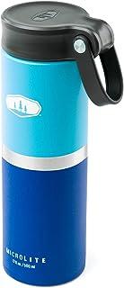 GSI Outdoors, Microlite 500 Twist 17 fl.oz. Vacuum Insulated Stainless Steel Water Bottle, Blue/Sky Blue