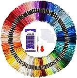100 Stränge Stickgarn, Regenbogen Kreuzstichfäden Stickgarn Kit für Anfänger Erwachsene zum Stricken von Kreuzstichprojekten (100)