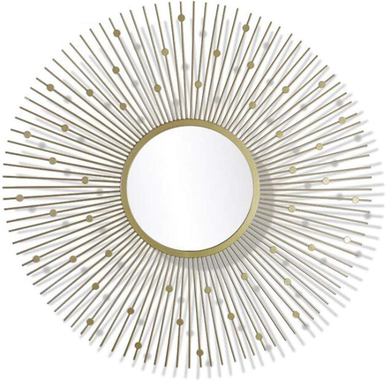 XIUXIU Mirror Family Living Room Simple Solid color Wall Mounted Vanity Mirror Sunburst Vanity Mirror (color   B)