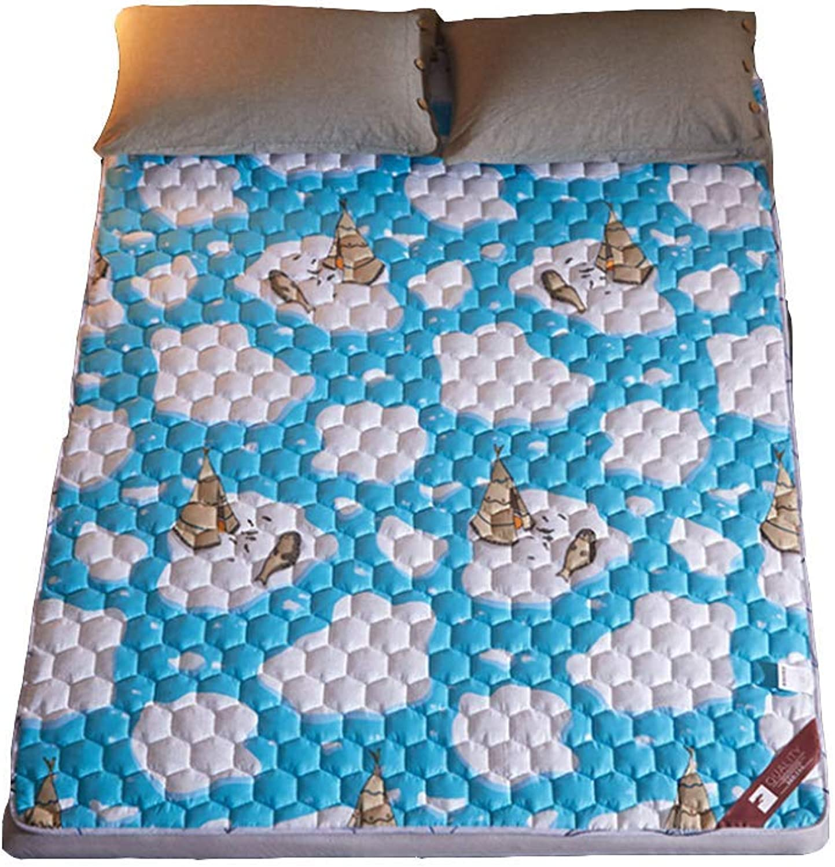 Tatami Bed Mattress Anti-Slip Folding Mat, Single Double Floor Sleeping Pad Nap for Living Room Dormitory,Baby Play Mat,6,100X200cm