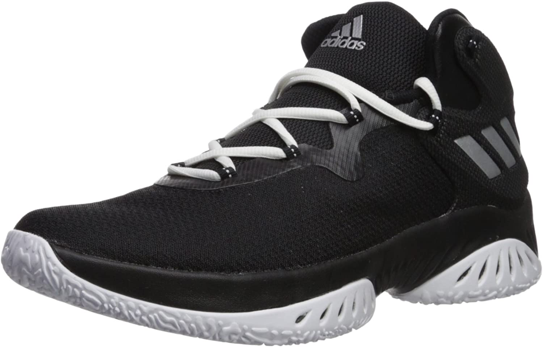 Adidas herrar Explosive Bounce Basketball skor, skor, skor, svart  Metallic silver  vit, (8 M US)  rabatter och mer