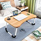 Lap Desk, Portable Laptop Bed Tray Table, Breakfast Serving Bed Tray Table, Laptop Bed Desk for Eating Breakfast, Writing, Working, Watching Movie on Sofa/Bed/Couch-Gold