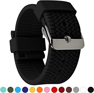 BarRan Tire Textured Surface Soft Silicone Quick Release Breathable Sport Replacement Watch Strap Watch Band - 18mm, 20mm,...