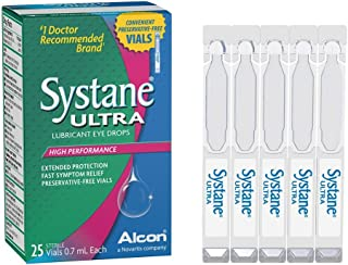 Systane Ultra Lubricant Eye Drops, 25 Count