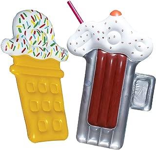 Swimline Root Beer Mug Float Inflatable Pool Toy Raft + Ice Cream Pool Float