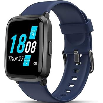 Smartwatch, LIFEBEE Orologio Fitness Uomo Donna, Smart Watch con Saturimetro (SpO2)/Misuratore Pressione/Cardiofrequenzimetro da Polso, Fitness Tracker Sport Impermeabile 5ATM Bambini per Android iOS