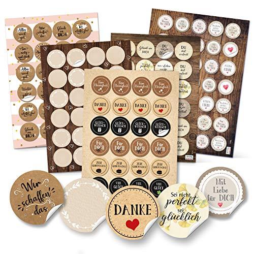 Logbuch-Verlag Geschenkaufkleber SET - Aufkleber Mix zum Basteln und Verzieren von DIY Verpackungen Sticker zum Beschriften Sprücheaufkleber