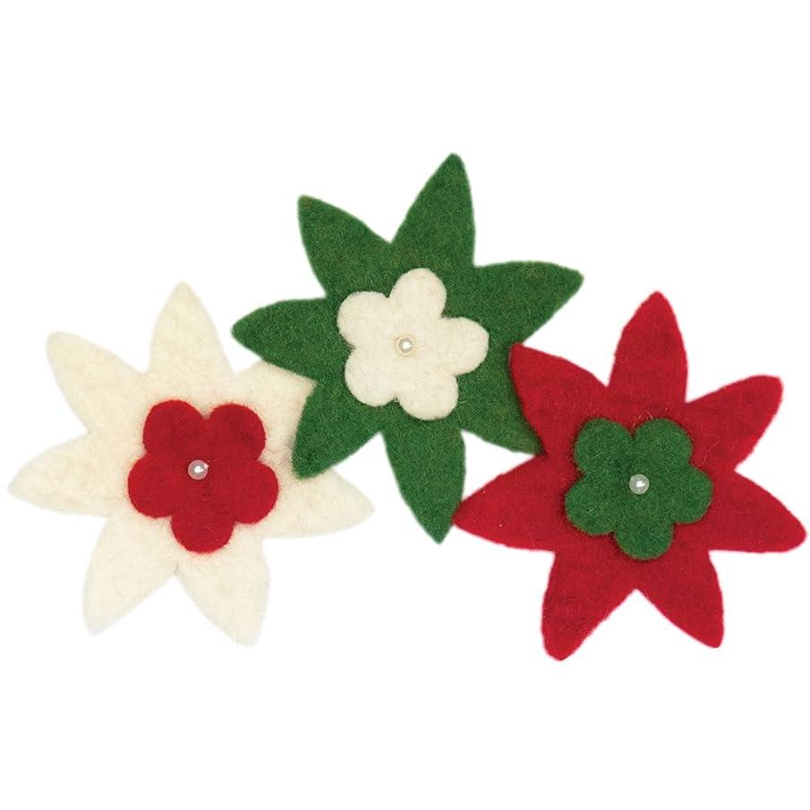 Dimensions Needle Felting Embellishments, Star Flowers