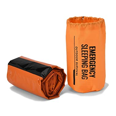 REEBOW GEAR Emergency Survival Sleeping Bag, Bivy Sack Emergency Thermal Blanket for Bug Out Bag Outdoor Camping Hiking First Aid Survival Kit