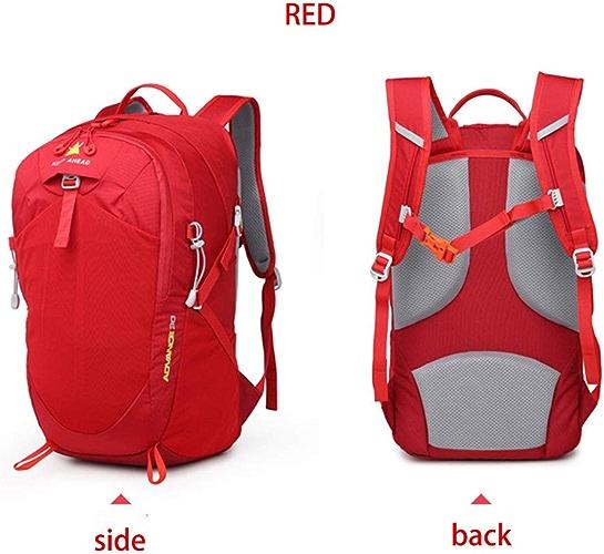 CX Best Sac à Dos de randonnée en Montagne Sac à Dos de randonnée en Plein air Pêche Vélo Sac de Ski Sac à Dos imperméable Sports Survie en Pleine Nature,rouge