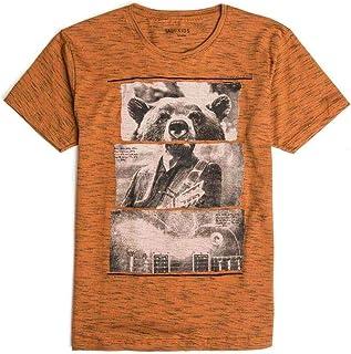 T-Shirt Estampada Infantil Masculino Caramelo