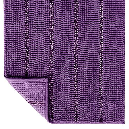 Tayis Alfombras de baño Antideslizantes y Absorbentes Alfombrillas de baño Chenilla Gruesas Extra Suaves Lavable para Baño Ducha Cocina, 50x80 cm, Púrpura