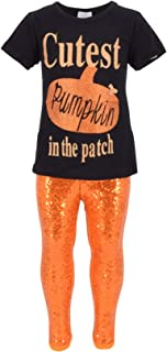 Girls 2 Piece Cutest Pumpkin in The Patch Halloween Outfit