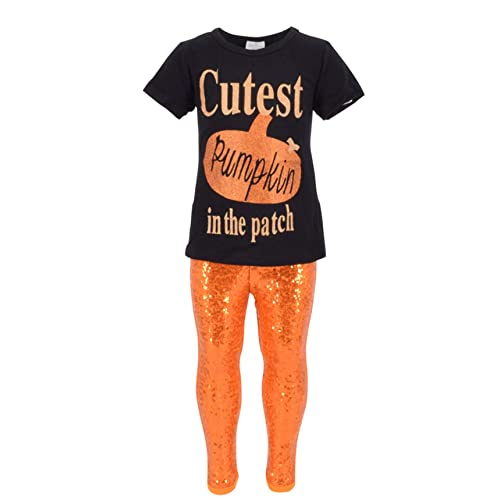 8e3581761f1d Unique Baby Girls 2 Piece Cutest Pumpkin in The Patch Halloween Outfit