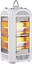 YXZN Pequeño Calentador Solar Espacial Estufa de Tostado de Cuatro Lados Tubo de Cuarzo Calentador eléctrico Silenciador Calentadores de Ventilador de Ahorro de energía