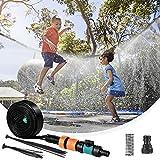 AceLife Trampolin Sprinkler 39.3FT/12M, Trampolin Spray für Kinder Wasserpark Spaß Sommer Outdoor Wasserspiel Trampolin Zubehör, zum Anbringen am Trampolin Sicherheitsnetz Gehäuse