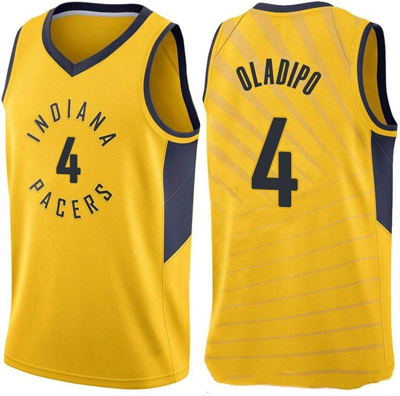ZAIYI-Jersey Herren Basketball Jersey Victor Oladipo   4 NBA Indiana Pacers-New Stoff Bestickt Swingman Jersey rmelloses Shirt (Farbe   D, Größe   S)