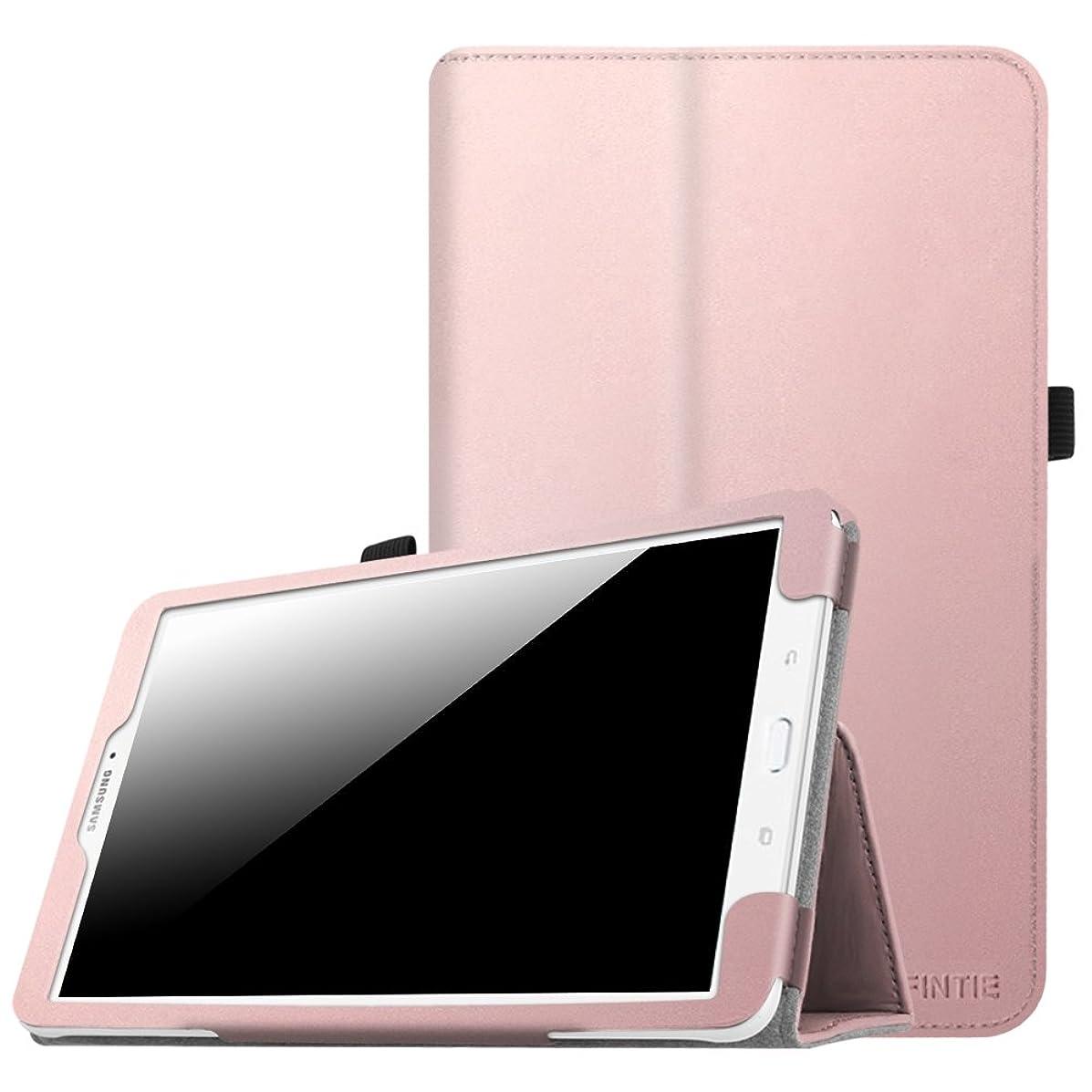 Fintie Folio Case for Samsung Galaxy Tab E 9.6 - Slim Fit Premium Vegan Leather Cover for Tab E/Tab E Nook 9.6-Inch Tablet (SM-T560/T561/T565 & SM-T567V Verizon 4G LTE Version), Rose Gold