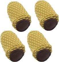 Baoblaze 4PCS Silla Pierna Calcetines Protectores de Piso Almohadillas para Muebles Cubierta de Pies - Amarillo