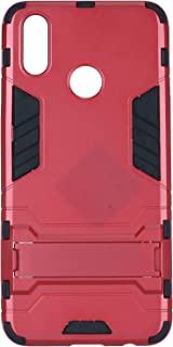 Ironman Hard Back Cover with Stand for Oppo Realme 3 Pro - Red and Black