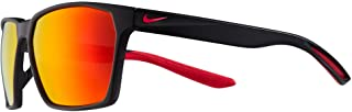 Nike EV1097-010 Maverick P Sunglasses Matte Black/Silver Frame Color, Polarized Grey with Red Mirror Lens Tint, 59/15/145
