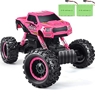 Double E RC Cars Remote Control Truck 1/12 Scale Remote Control Car for All Adults & Kids Off Road RC Trucks Pink