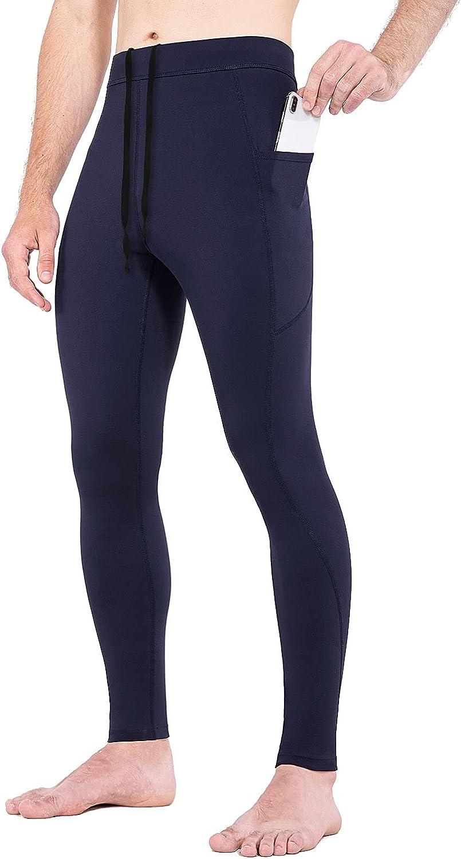 BALEAF Over item handling ☆ Men's Thermal Compression Leggings Luxury Lined Res Water Fleece