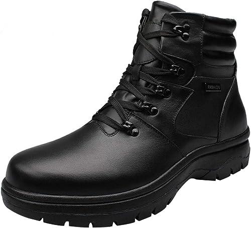 XUANXAI botas De Tobillo Con Cordones Para Hombre Altas Para Ayudar A Las botas De Nieve A La Moda.