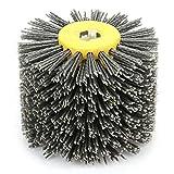 Atyhao Abrasivi Wire Drum Brush Spazzola Brunishing Lucidatura per mobili in Legno Brillante per lucidatura Striping Disegno Grit # 80