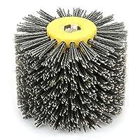 研磨ホイールバニシングワイヤードラムワイヤードローイングホイールブラシバニシング研磨ホイールグリット#80、研削、錆除去、軟化用