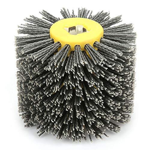 Wire Wheel Brush, Abrasivi Filo Spazzola Tamburo lucidante brunitura Per Mobili in Legno Brillante Per Lucidatura Striping Disegno Grana #80